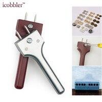 Skórzane narzędzia rzemieślnicze regulowana klamra narzędzie instalacyjne widelec dziurkacz magnes 4 25mm rozstaw otworów ręczny dziurkacz do rękodzieła w Zestawy narzędzi ręcznych od Narzędzia na