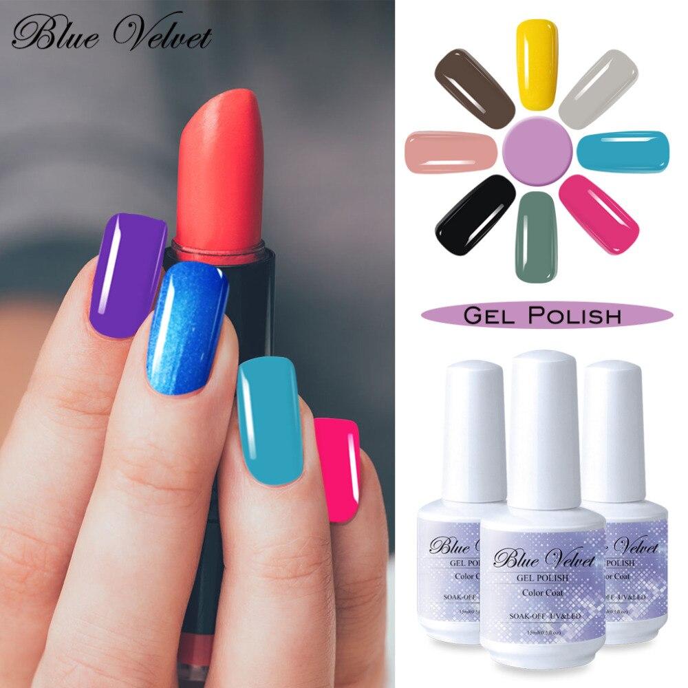 Blue Velvet Soak Off 15ml UV LED Gel Nail Polish Long