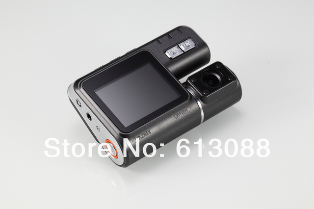 Russian language Dual lens HD Car DVR with Wide Angle 120 Degree 720P Mega Pixels Support External SENSOR H.264 Free shipping