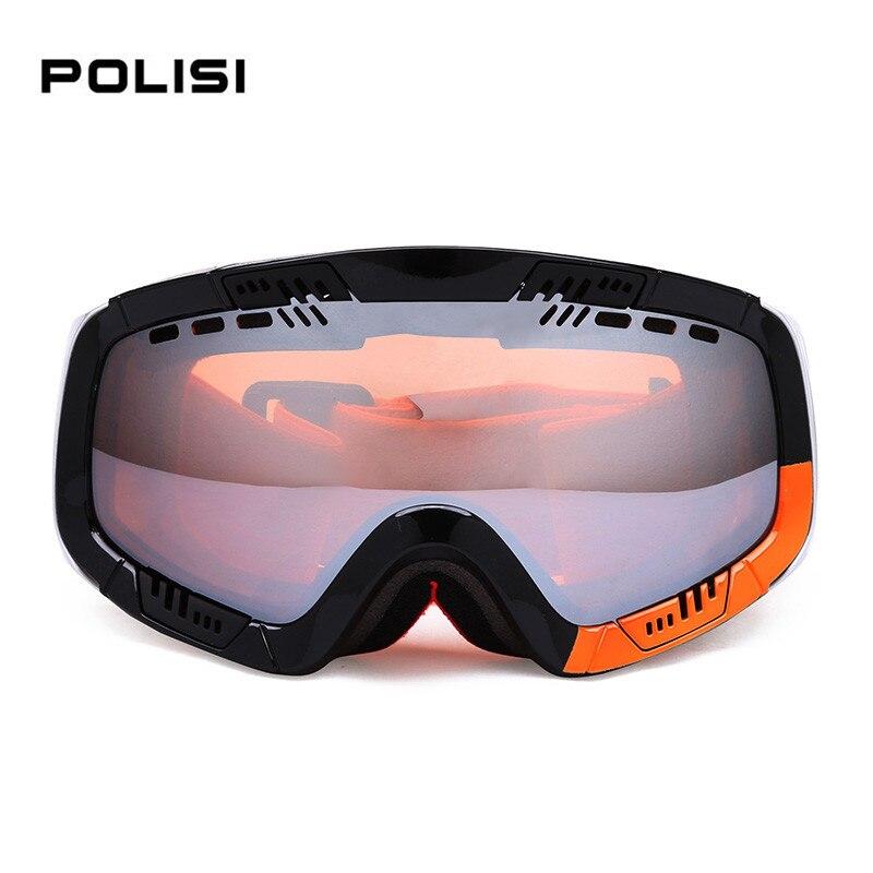 Gafas de esquí polisi profesional marca 2 de doble lente antiniebla esféricos gr