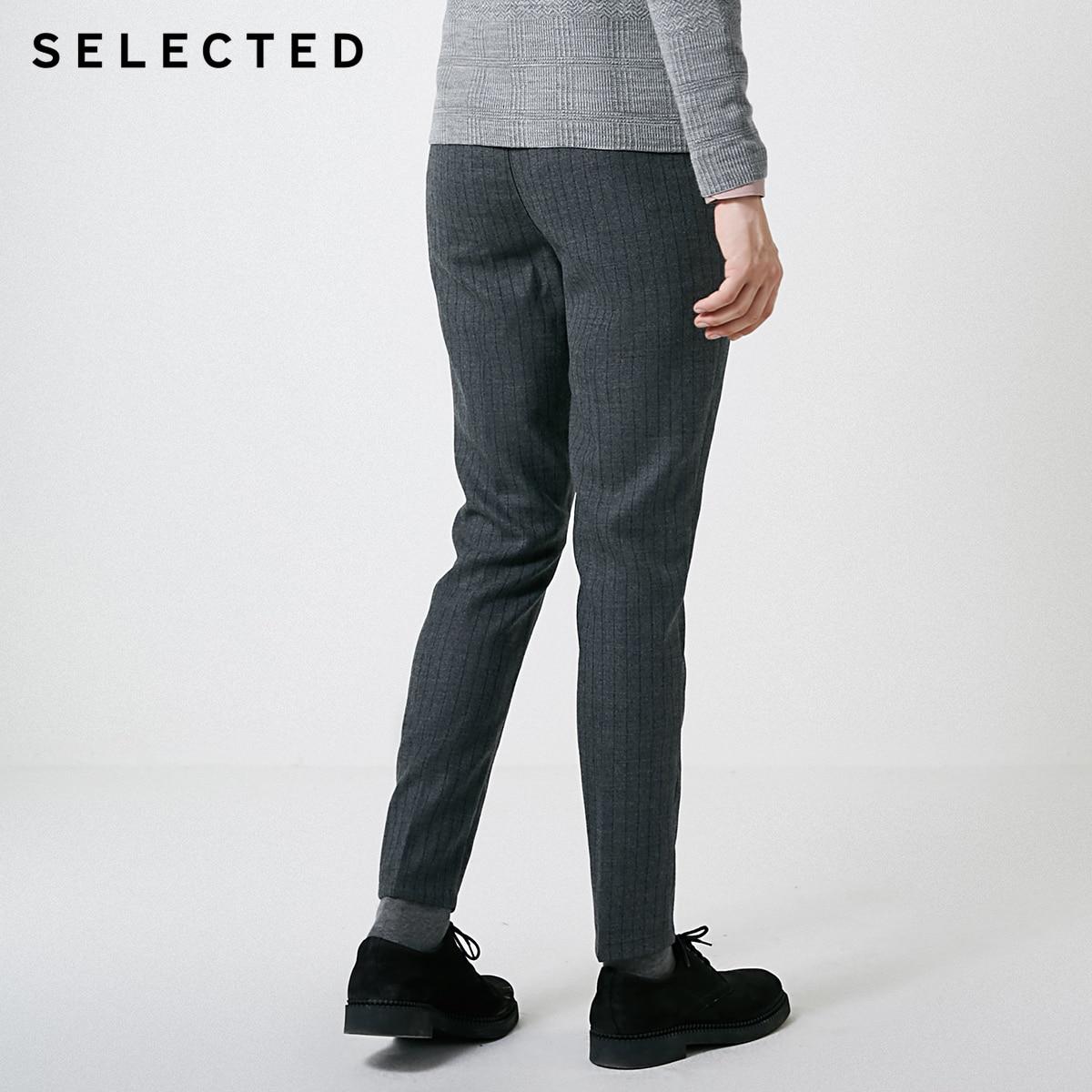 Pantalones informales elásticos a rayas de otoño e invierno para hombre seleccionados  418414523-in Pantalones pitillo from Ropa de hombre    3