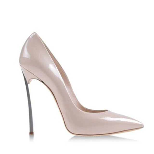 Zapatos de las mujeres zapatos de Tacón Alto de Las Mujeres Bombas de tacón de Aguja de 12 CM Talones B zapatos de Mujer Tacones Altos de Charol Punta estrecha Tacones Altos B-0029