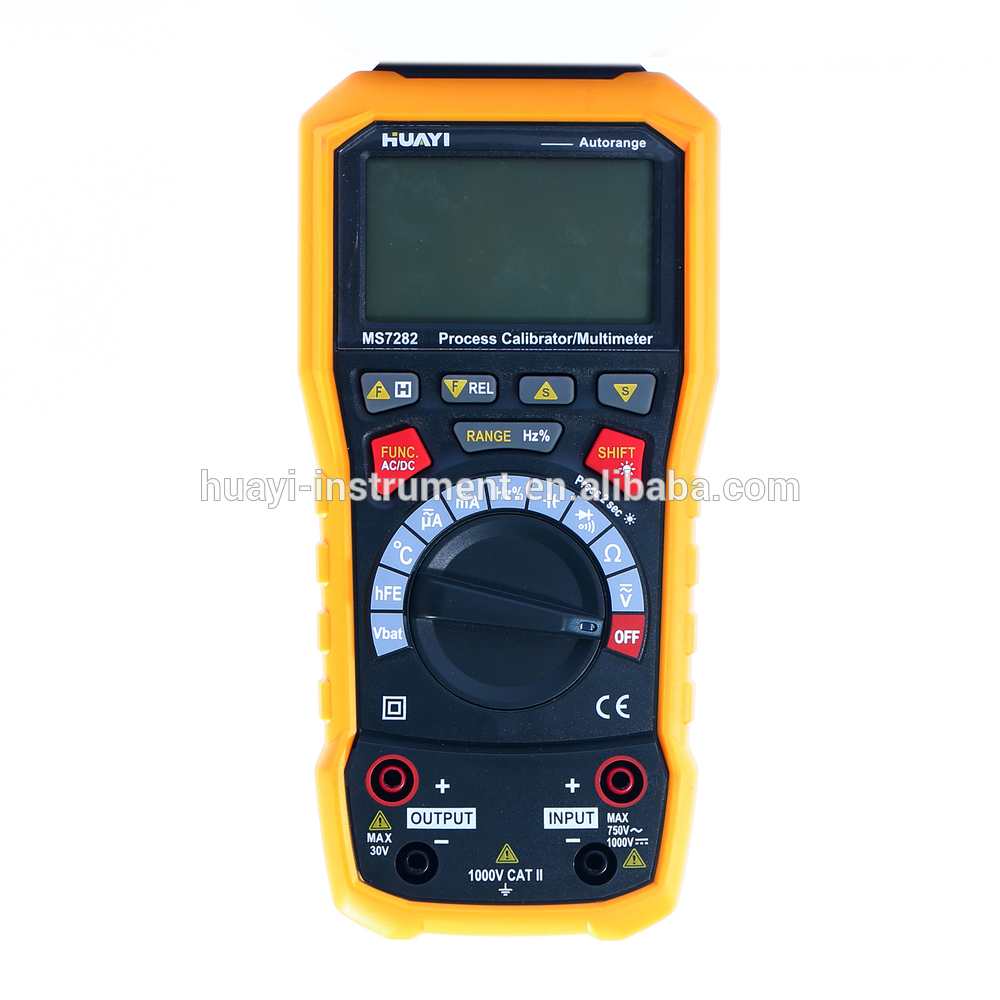 Free shipping HUAYI Current sourcing MS7282 process calibrator with multimeter and loop meter process oriented performance evaluation concepts and methodology