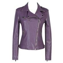Women leather Jackets 2017 New Ladies Basic Short Faux Leather Jackets Slim Motorcycle Zipper Coat Female Outerwear Clothing