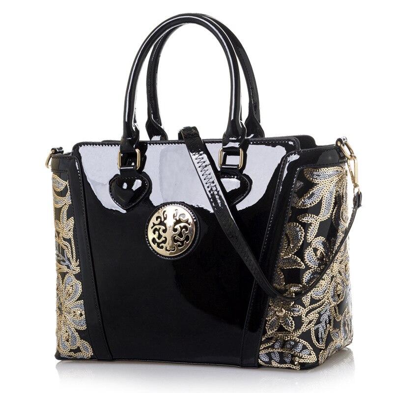 Original Women's Shoulder Bag European Fashion Classic Embroidered Bucket Bag PU