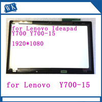 Non touch For Lenovo Ideapad Y700 15 y700 15ISK Front Glass LCD Screen Display Panel Non Touch with frame bezel 1920*1080