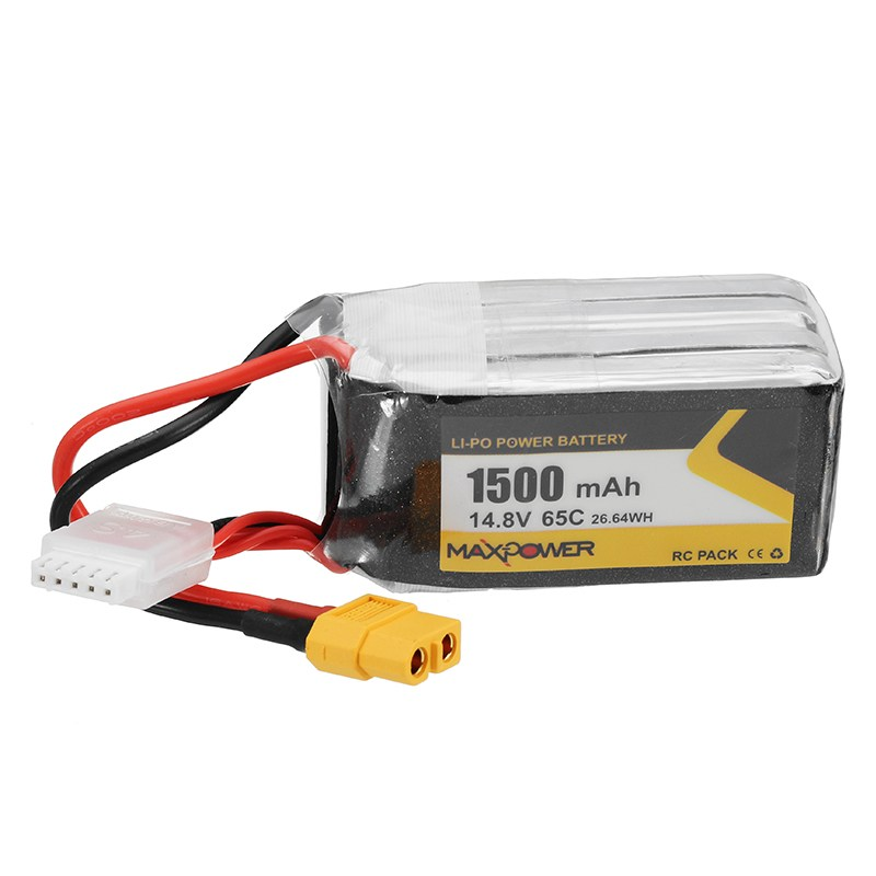 Max Power 14.8V 1500mAh 65C 4S FORCE Lipo Battery XT60 Plug for Eachine Wizard X220S RC Quadcopter FPV Drone Multirotor Parts 2018 newest for infinity 14 8v 1800mah 4s1p 80c sy60 xt60 plug rs force edition lipo battery for rc racer drone quadcopter power