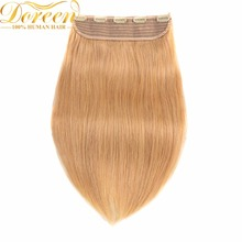 Doreen 16 to 22inch Brazilian Machine Made Remy Clip in Hair Extensions 8Colors 120G One piece Set Natural Straight Human Hair