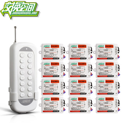 JD211A1N12 Hesunse  12Ways Digital RF Wireless Remote Control Switch 220V 12Ch Receivers And 1 Transmitter 110V 433mhz