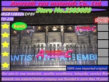 Aoweziic 100% nowe importowane oryginalne IRGB10B60KDPBF IRGB10B60KD GB10B60KD TO 220 tranzystor 600 V 22A