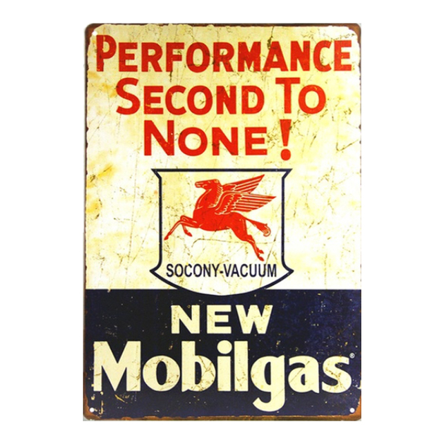 New Mobilgas Oil Company Vintage Metal Sign Wall Sticker for Man\'s ...