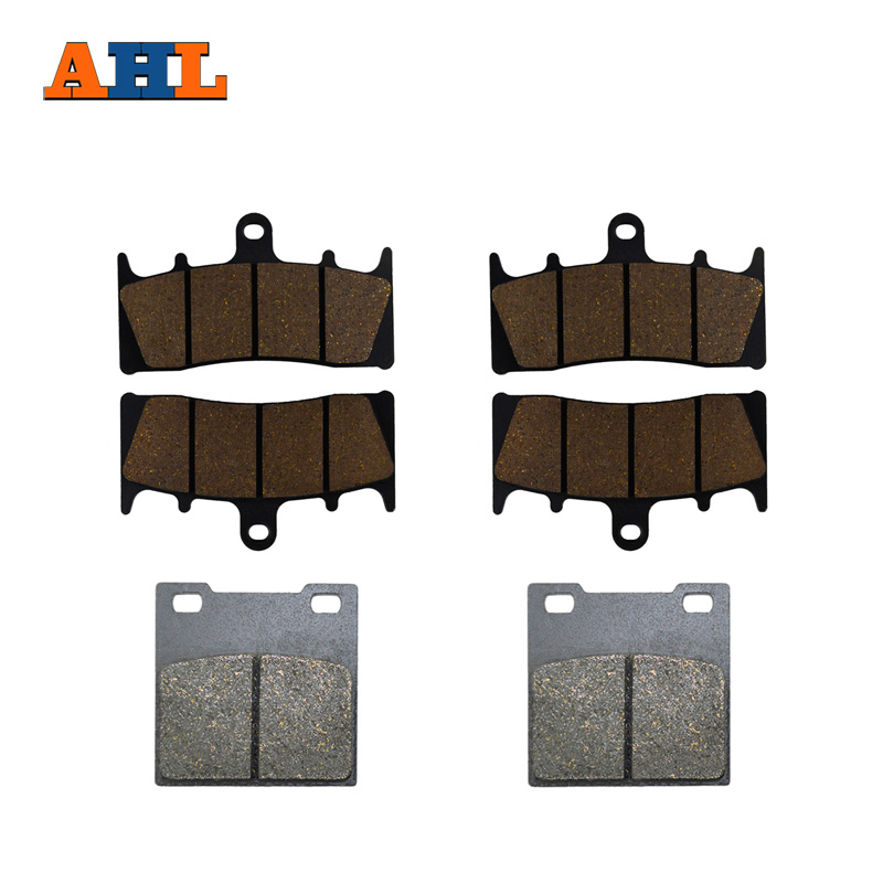 AHL Motorcycle Front and Rear Brake Pads For SUZUKI GSXR750 W/T/V/X TL1000 R GSXR1100 W GSF 1200 SK/K Bandit GSX1300R Hayabusa billet rear hub carriers for losi 5ive t