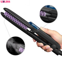 450F Professional Steam Flat Iron Private Label Hair Straightening Curler Ceramic Flat Iron Curling