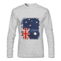 Australian Flag Blank Men S Tshirt Unique Cheap Price T Shits Fashion Brand Long Sleeve T