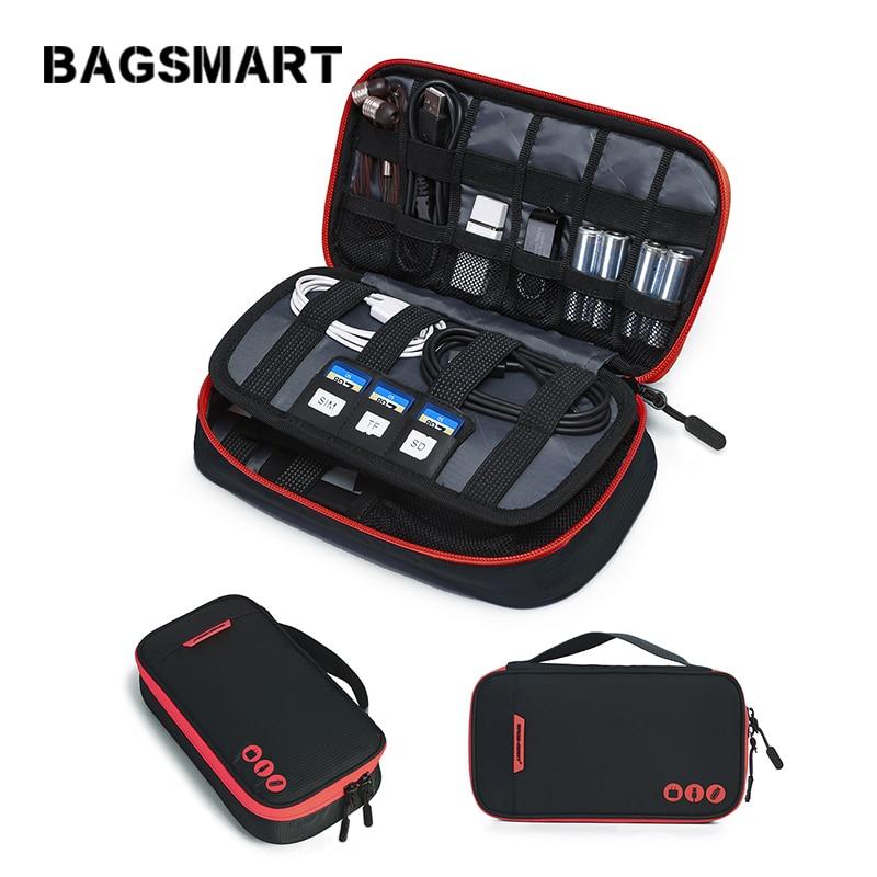 کیف حمل و نقل کیف دستی لوازم جانبی دیجیتال کیسه سازمان دهنده کیسه قابل حمل کیسه نایلون ضد آب برای کابل باتری USB Kindle