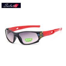 2018 SALUTTO Fashion Sport Kid Saulesbrilles Bērni Vasaras brilles Polarizēti UV400 brilles Drošības zīmoli brilles Gilrs