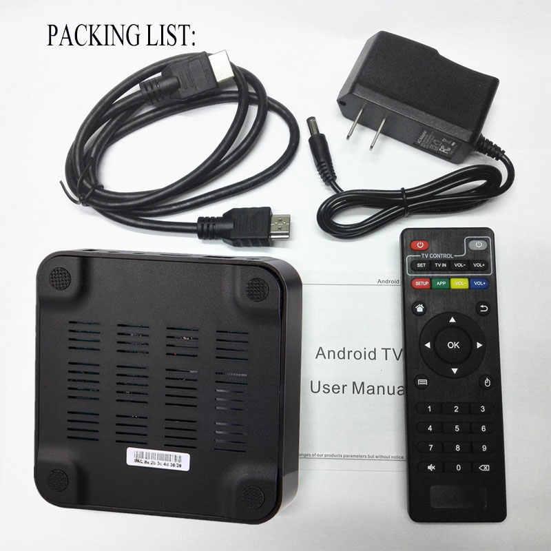 MXQpro 4K 2GB 16GB Smart Android tv Box 7,1 S905W четырехъядерный процессор Amlogic 1GB 8GB mxq Pro 2,4 Ghz wifi может подписываться на brasil IP tv