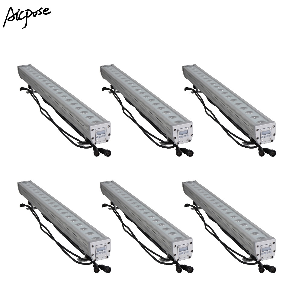 Lights & Lighting Analytical 6pcs/lots 18x12w Rgbw 4in1 Ip65 Waterproof Wall Wash Light With Dmx512 Control Led Outdoor Flood Light Dj Bar Show Stage Light Stage Lighting Effect
