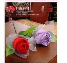 50pcs/lot! Creative Rose Cotton Cake Towels for Wedding Party / Birthday/ Valentines Day