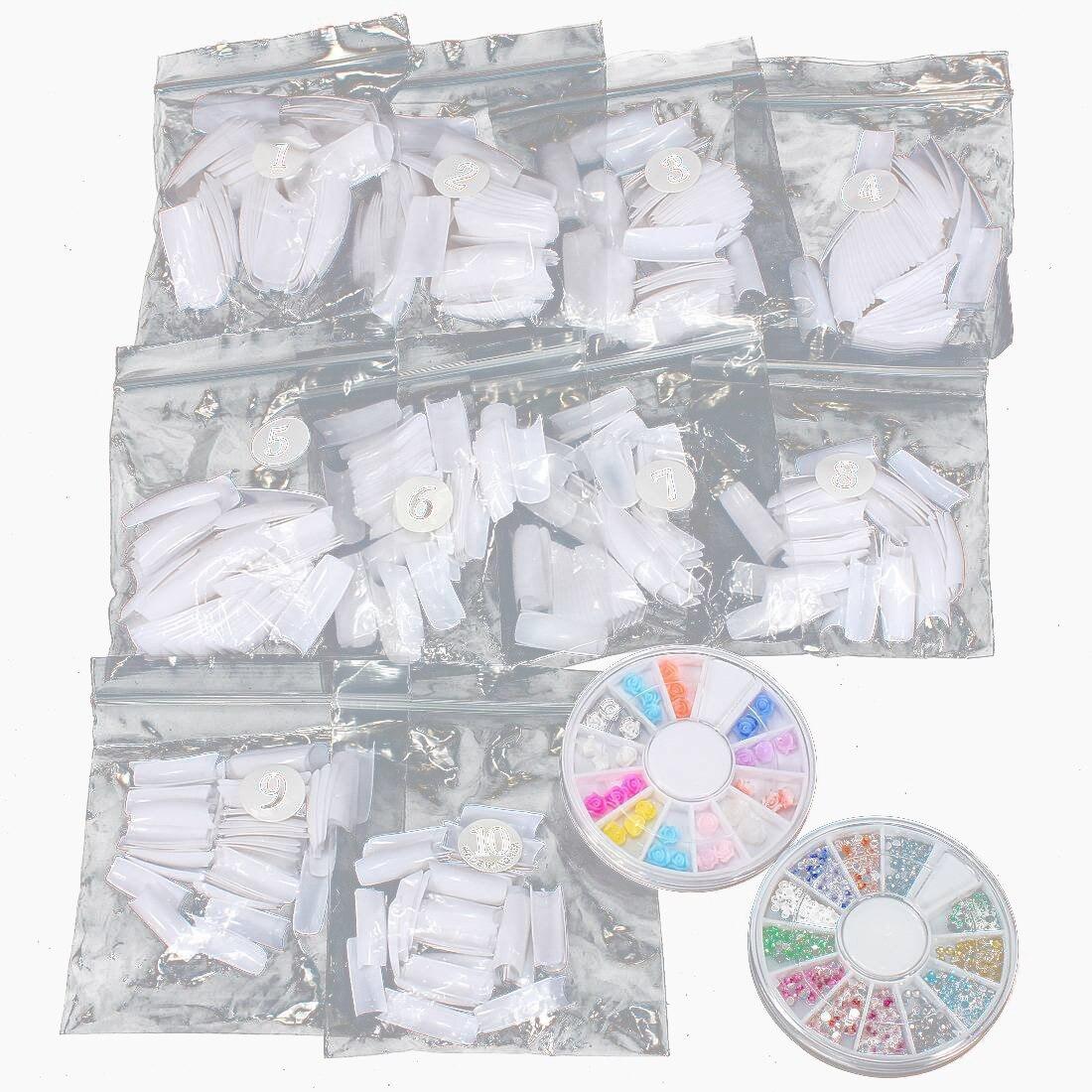 5PACK (kits da arte Do Prego Cuidado Do Prego Prego Ferramentas de Design de Unhas de Acrílico Em Pó Escova Glitter Dica - 2