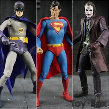 Anime DC Clássica Série de TV 1966 Superman Batman The Dark Knight The Joker 16 cm 3 * Estilo Dos Desenhos Animados Modelo de Brinquedo Figura PVC presente(China)