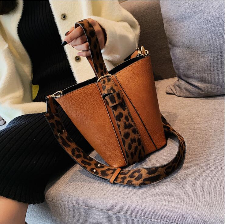 97b3c66b5299 Леопардовая сумка-мешок сумка композитная сумка женская сумка через плечо  женская сумка #475