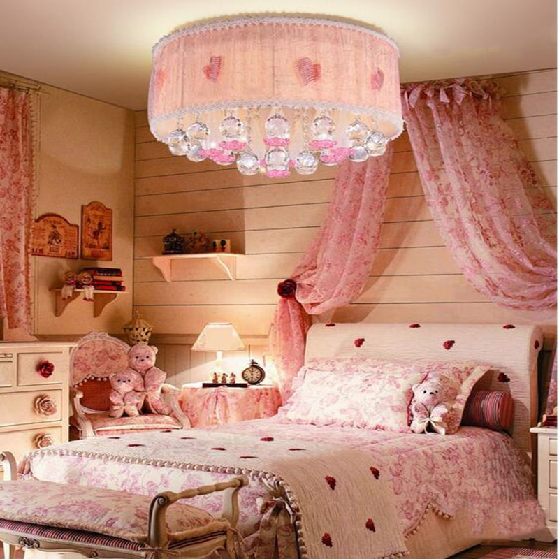 Bedroom crystal ceiling lamps warm romantic wedding room living ...