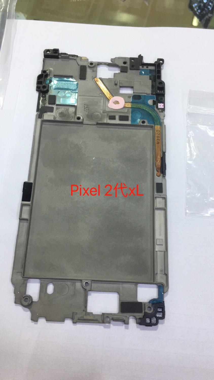 Wrcibo for Google Pixel 2 XL Middel Frame Chassis for Htc Pixel2XL Mid Lcd Plate Replacement