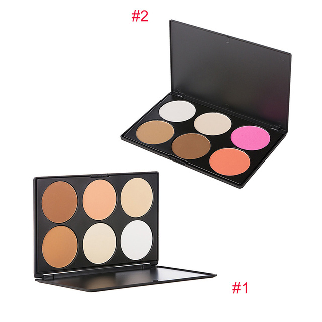 Fashion 6 Colors Beauty Lasting Contour Face Powder Cream Blusher Makeup Cosmetic Concealer Palette Eyeshadow Beauty Tools