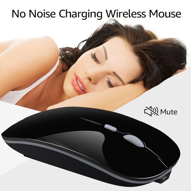 Wireless Mouse Computer Bluetooth Mouse Silent PC Mause Rechargeable Ergonomic Mouse 2.4Ghz USB Optical Mice For Laptop PC 3
