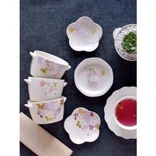 Japanese ceramic bowl soup noodle rice bowl flower print fruit plate kitchen cake plates serving dish new Tableware home decor salad bowl porcelain plate japanese style home decor tableware ceramic dinner bowls soup noodle rice bowl