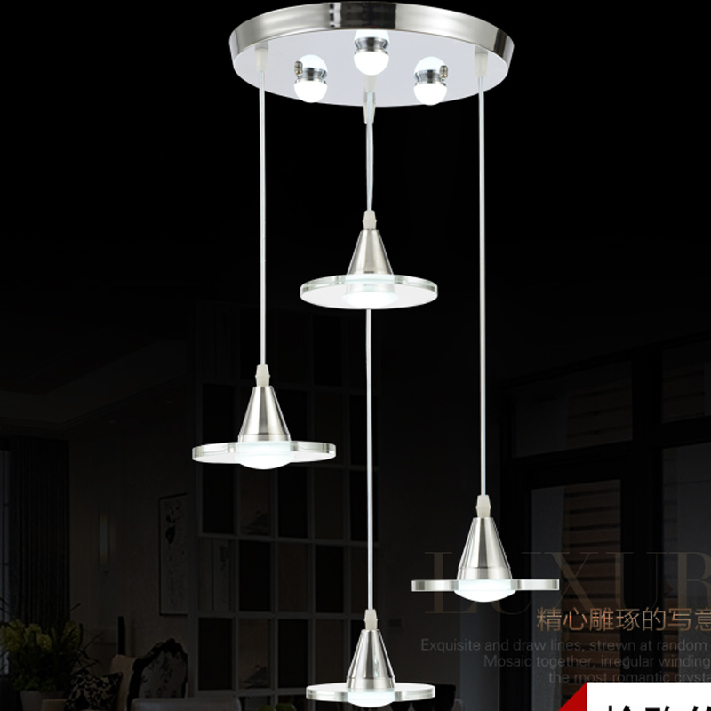 Led restaurant hanging lighting modern minimalist three head four head creative personality dining room lamp Crystal hanging bar modern crystal chandelier hanging lighting birdcage chandeliers light for living room bedroom dining room restaurant decoration