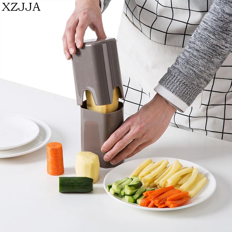 XZJJA Creative מטבח ירקות תפוחי אדמה מבצע הצרפתי פריי קאטר ופר שבבי ביצוע כלי תפוחי אדמה חיתוך מטבח גאדג 'טים