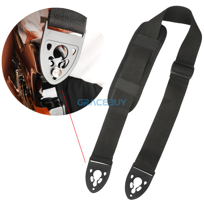 Guitar Strap For Electric Guitar Bass With Quick Lock And Comfortable Shoulder Pad New polyester and nylon guitar strap for acoustic electric guitar and bass multi color guitar belt s008