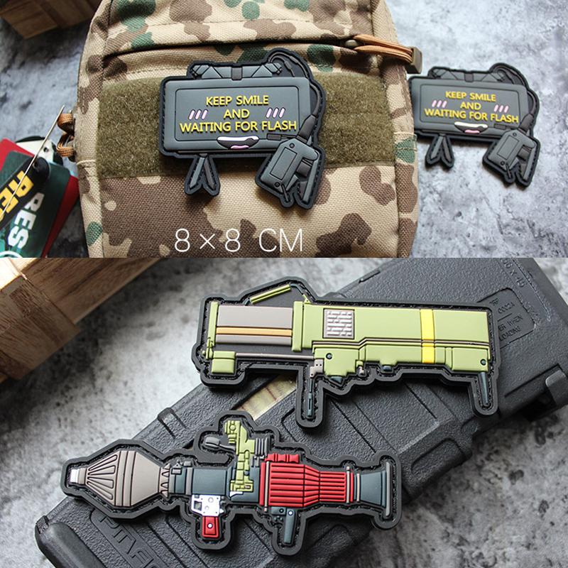 Нашивки оружия из ПВХ на униформу PUBG (Товары с AliExpress)
