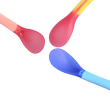 3pcs Baby Safety Temperature Sensing Baby Silicon Spoon Kids Children Flatware Feeding Spoons