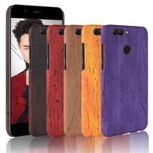 For Huawei Nova 2 Plus Case Hard PC+PU Leather Retro wood grain Phone Nova2 Cover Luxury Wood Nova2+
