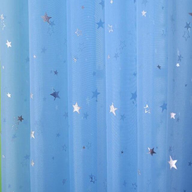 Star Garza screening Finestra Rosa Blu Verde Tenda di trasporto di Tulle Moda Moderna Tulle Fantasia salotto VENDITA CALDA camera Dei Bambini 'WP1234*15