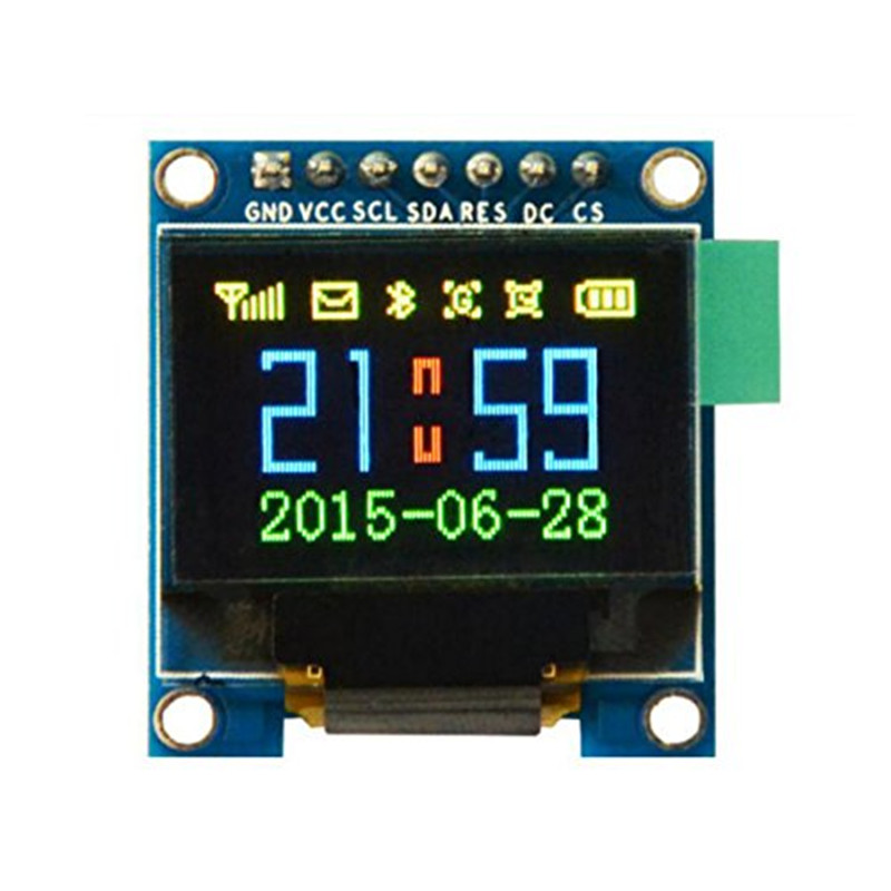 WeiKedz 2pcs 0.95 inch 7pin Full Color 65K Color ssd1331 OLED Display 3.3v 5v Serial SPI Small LCM Module for 51 STM32 Arduino