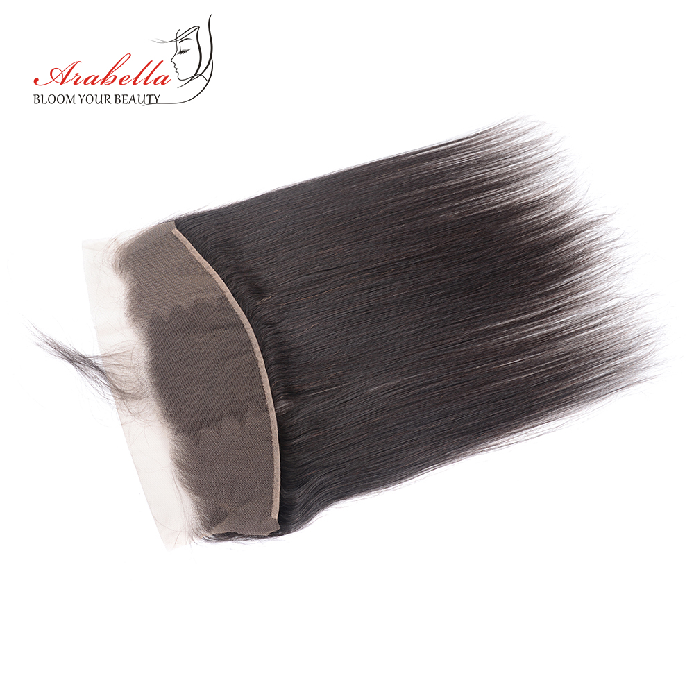 Brazilian Straight Hair Lace Frontal 13*4 Ear To Ear Natural Color Remy Human Hair Arabella Pre Plucked Lace Frontal Closure