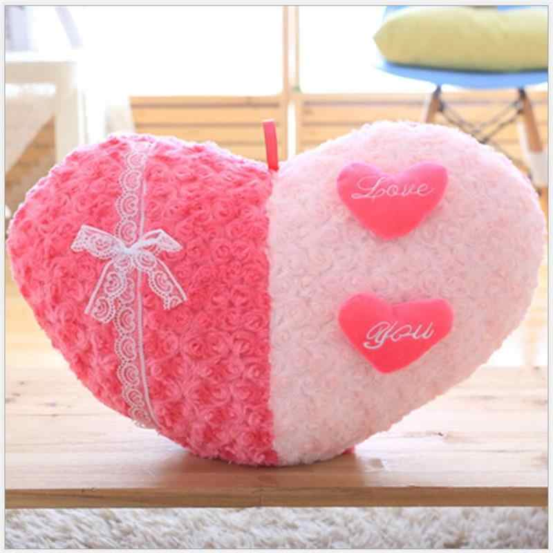 الإبداعية روز القلب شكل ألعاب من القطيفة وسادة وسادة المنزل الديكور عيد الحب هدايا الزفاف