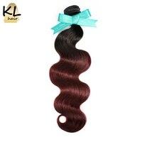 KL Hair Brazilian Body Wave Ombre Hair Bundles T1B 99J Color Hair 100 Human Hair Weaving