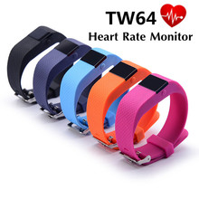 TW64S Heart Rate Smartband Smart Wristband TW64 Upgrede Sport Bracelet Fitness Tracker For iOS Android Phone Similar TO JW86