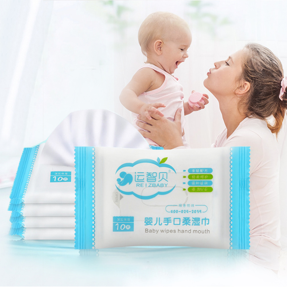 Portable and Convenient Wet Tissue Hand Mouth Soft Wet Wipes Outdoor Tissue For Baby Travel Wipes health care