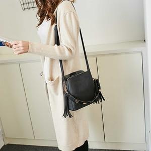 Image 2 - Bolish แฟชั่นผู้หญิง PU ไหล่กระเป๋าหญิง VINTAGE ทุกวันช้อปปิ้งกระเป๋าถืออเนกประสงค์พู่กระเป๋า Messenger Causal Dames Tassen