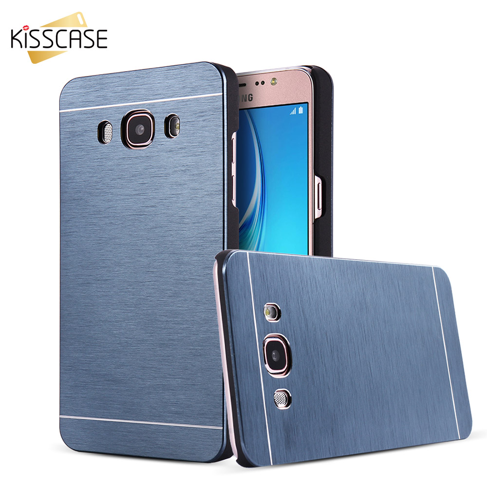 New KISSCASE Luxury Case For Samsung Galaxy J1 J5 J7 2016 Hard Aluminum Hybrid Back Cover Cases For Galaxy J710 J510 Axxessories