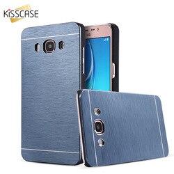 Nouveau KISSCASE Cas De Luxe Pour Samsung Galaxy J1 J5 J7 2016 dur En Aluminium Hybride Couverture Arrière Cas Pour Galaxy J710 J510 Axxessories