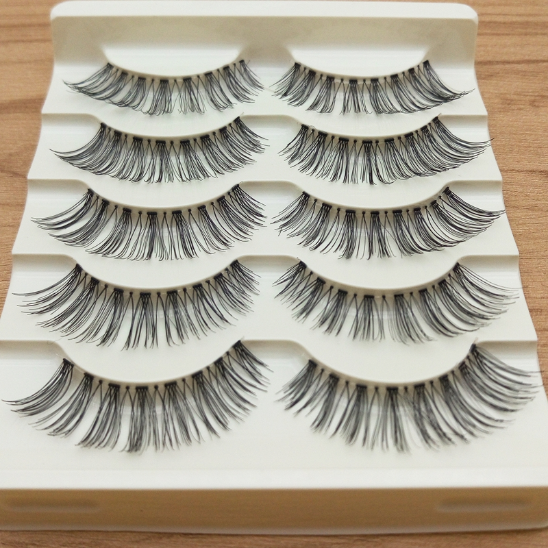 False eyelashes Professional thick fake lashes nude makeup