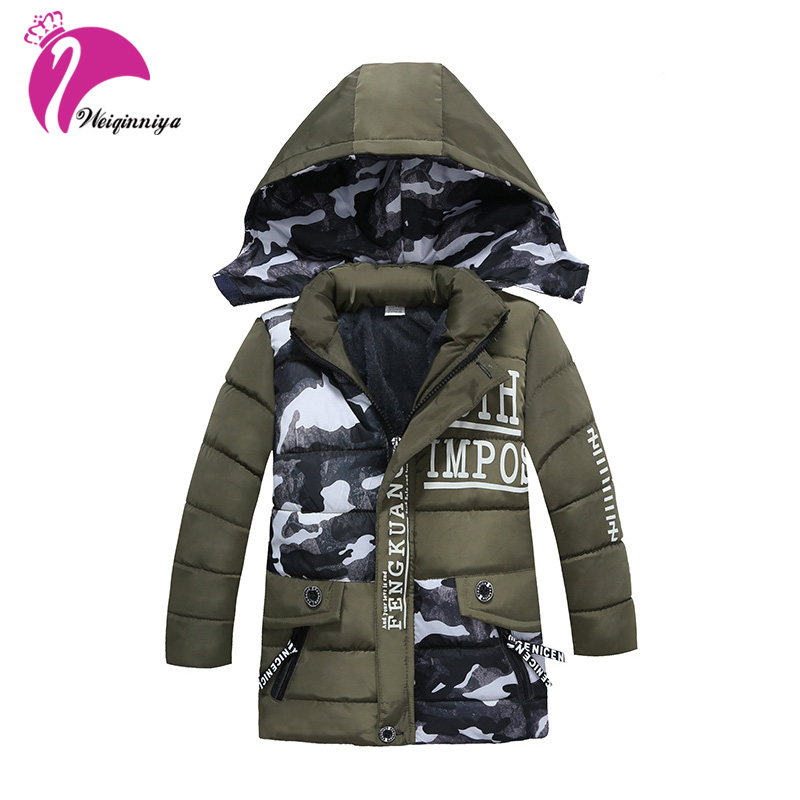 купить Baby Boy Clothes 2017 New Boys Winter Long Down Jackets Outerwear Coats For Boy Thick Warm Jacket For Baby Boy дешево