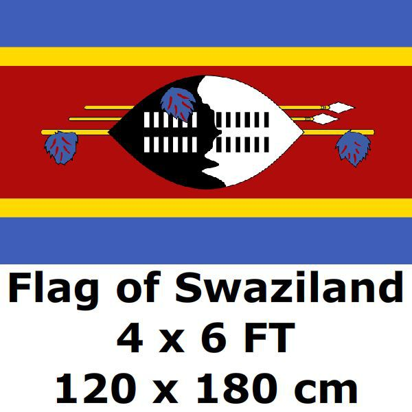 US $4 27  Swaziland Flag 4` x 6` FEET 120 x 180 cm Flags And Banners  National Flag Country Banner For Home Decoration-in Flags, Banners &  Accessories
